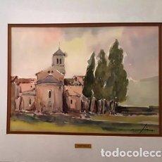 Arte: CUADRO - PINTURA ACUARELA - ALT AMPURDA - JOSEP MARFA GUARRO - BARCELONA - AÑO 1990 -. Lote 154290410