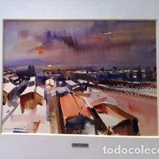 Arte: CUADRO - PINTURA ACUARELA -GARRIGUELLA-ALT AMPURDA - JOSEP MARFA GUARRO - BARCELONA - AÑO 1998 -. Lote 154292386