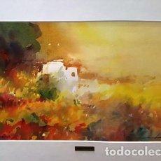 Arte: CUADRO - PINTURA ACUARELA - PAISATGE ALT AMPURDA - JOSEP MARFA GUARRO - BARCELONA - AÑO 2000 -. Lote 154292754