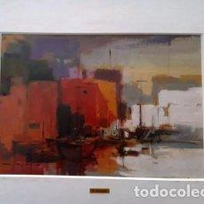 Arte: CUADRO - PINTURA OLEO SOBRE CATON - PORT - JOSEP MARFA GUARRO - BARCELONA -. Lote 154293926