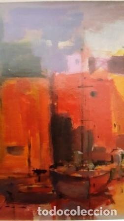 Arte: CUADRO - PINTURA OLEO SOBRE CATON - PORT - JOSEP MARFA GUARRO - BARCELONA - - Foto 6 - 154293926