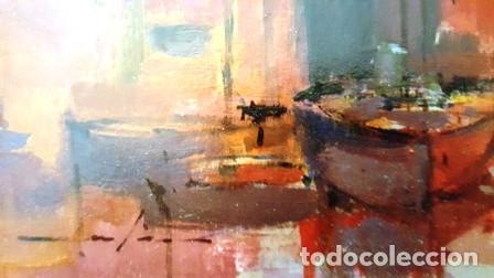Arte: CUADRO - PINTURA OLEO SOBRE CATON - PORT - JOSEP MARFA GUARRO - BARCELONA - - Foto 8 - 154293926