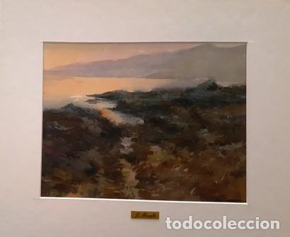 CUADRO - PINTURA ACUARELA - LLANÇA - JOSEP MARFA GUARRO - BARCELONA - AÑO 1985 (Arte - Pintura Directa del Autor)