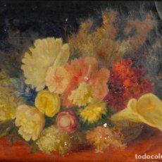 Arte: RICARDO MARTÍ AGUILO (1868-1936) ÓLEO SOBRE LIENZO BODEGÓN FLORES FIRMADO. Lote 154322058