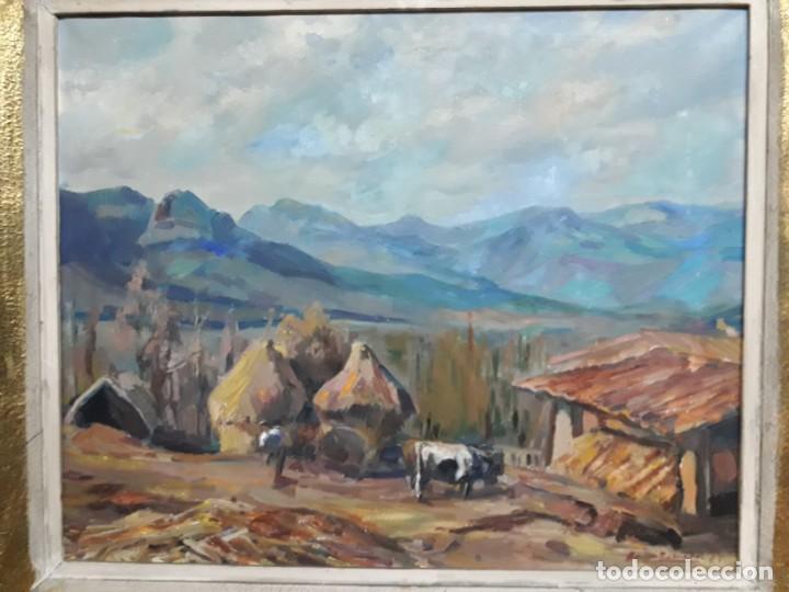 ÓLEO SOBRE LIENZO AÑO 1957- RAMÓN BARNADAS I FABREGA (OLOT 1909 - GIRONA 1981) (Arte - Pintura - Pintura al Óleo Contemporánea )