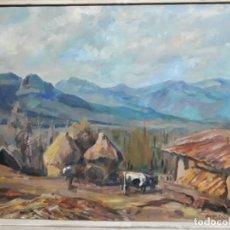 Arte: ÓLEO SOBRE LIENZO AÑO 1957- RAMÓN BARNADAS I FABREGA (OLOT 1909 - GIRONA 1981). Lote 154323682