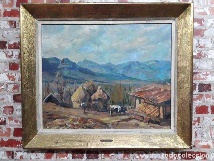 Arte: Óleo sobre lienzo año 1957- Ramón Barnadas i Fabrega (Olot 1909 - Girona 1981) - Foto 2 - 154323682