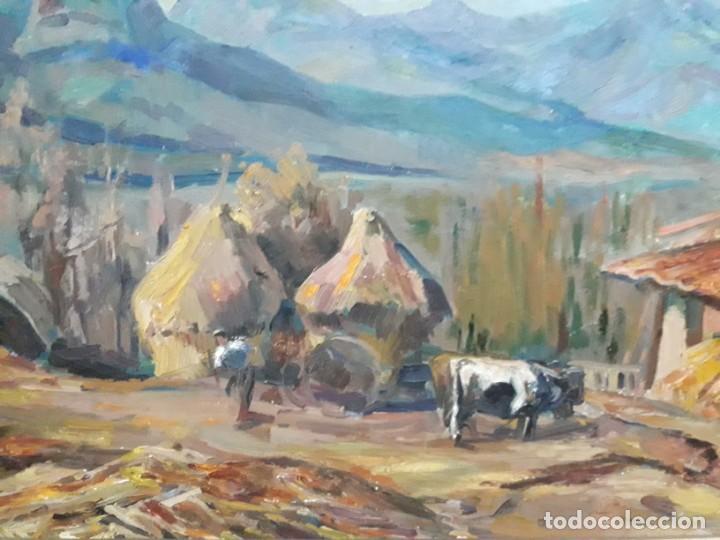 Arte: Óleo sobre lienzo año 1957- Ramón Barnadas i Fabrega (Olot 1909 - Girona 1981) - Foto 3 - 154323682