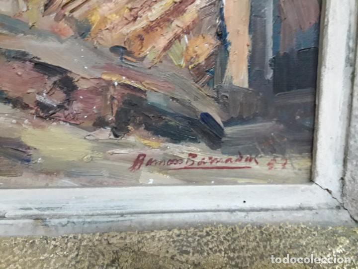 Arte: Óleo sobre lienzo año 1957- Ramón Barnadas i Fabrega (Olot 1909 - Girona 1981) - Foto 4 - 154323682