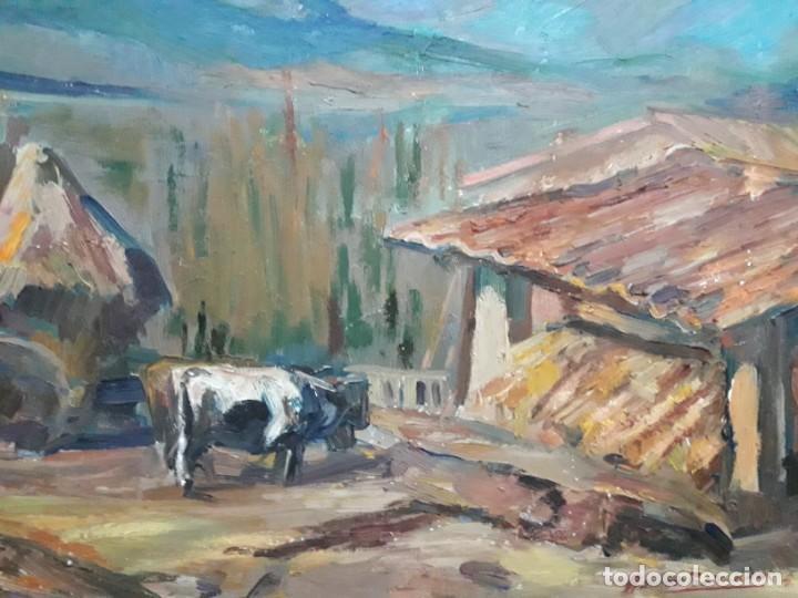 Arte: Óleo sobre lienzo año 1957- Ramón Barnadas i Fabrega (Olot 1909 - Girona 1981) - Foto 5 - 154323682