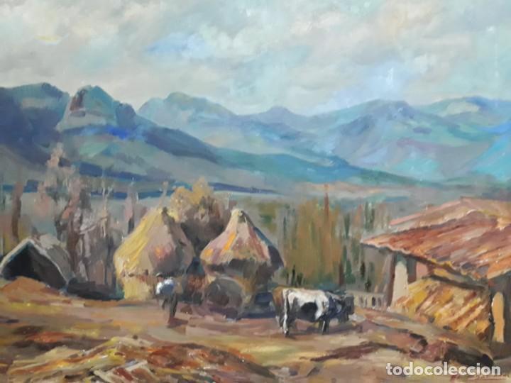 Arte: Óleo sobre lienzo año 1957- Ramón Barnadas i Fabrega (Olot 1909 - Girona 1981) - Foto 6 - 154323682
