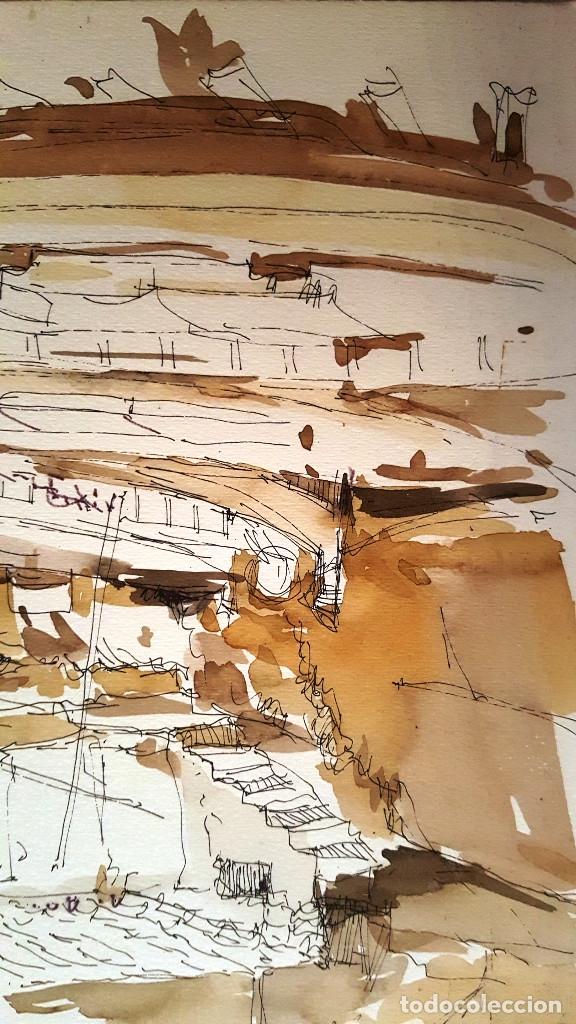 Arte: PINTURA A TINTA Y ACUARELA - PORT VALLDEMOSA - JOSEP MARFA GUARRO - BARCELONA - - Foto 2 - 154400434