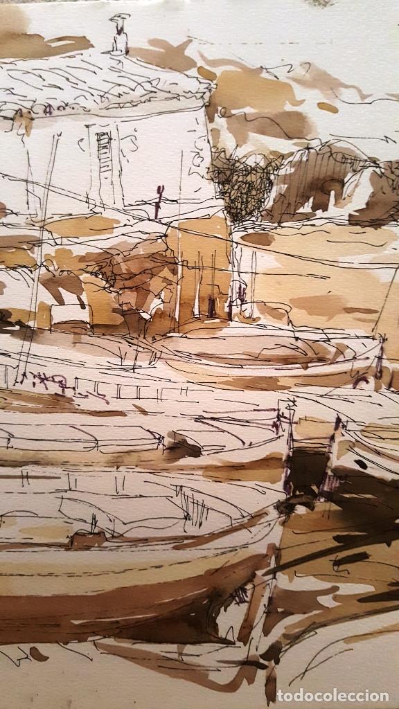 Arte: PINTURA A TINTA Y ACUARELA - PORT VALLDEMOSA - JOSEP MARFA GUARRO - BARCELONA - - Foto 4 - 154400434