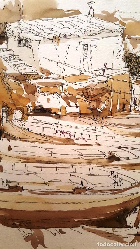 Arte: PINTURA A TINTA Y ACUARELA - PORT VALLDEMOSA - JOSEP MARFA GUARRO - BARCELONA - - Foto 3 - 154400434