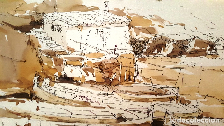 Arte: PINTURA A TINTA Y ACUARELA - PORT VALLDEMOSA - JOSEP MARFA GUARRO - BARCELONA - - Foto 5 - 154400434