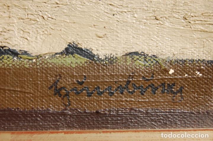 Arte: Preciosa pintura al óleo de 26x40 enmarcada en 36x50.Segundo cuarto s.XX. Kimsbink? - Foto 6 - 154415410
