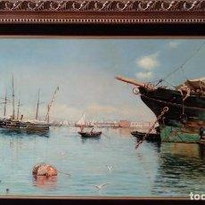 Arte: PUERTO DE GUILLERMO GÓMEZ GIL. COPIA DE FERNANDO NEGRO.. Lote 154440278
