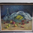 Arte: ÓLEO SOBRE TABLEX FIRMADO MONCUNILL.BODEGON.. Lote 154446438