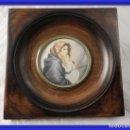 Arte: MAGNIFICA MINIATURA AL OLEO SOBRE MARFIL FIRMADA S. XIX. Lote 154472714