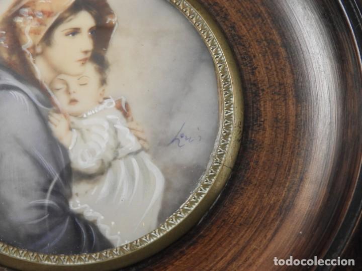 Arte: MAGNIFICA MINIATURA AL OLEO SOBRE MARFIL FIRMADA S. XIX - Foto 6 - 154472714