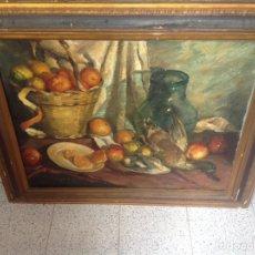 Arte: ÓLEO SOBRE LIENZO BODEGÓN Y CAZA FIRMADO. Lote 154484361