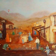 Arte: PRECIOSA PINTURA NAIF, GRAN TAMAÑO, FIRMADA KARINA C.. Lote 154484462