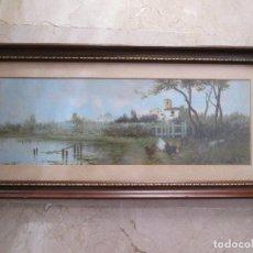 Arte: JUAN EGEA MARIN - SIGLO XIX - PINTURA SOBRE TABLA - ENMARCADO CON CRISTAL Y FIRMADO - 71X34. Lote 154487782
