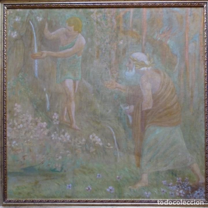 GRAN ÓLEO NOUCENTISTA DE PERE VIVER AYMERICH(TERRASSA 1873-1917).PIEZA DE MUSEO. (Arte - Pintura - Pintura al Óleo Contemporánea )