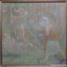 Arte: GRAN ÓLEO NOUCENTISTA DE PERE VIVER AYMERICH(TERRASSA 1873-1917).PIEZA DE MUSEO.. Lote 154560598