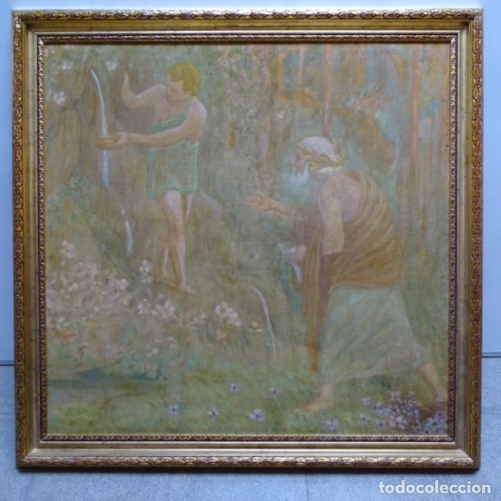 Arte: Gran Óleo noucentista de Pere viver aymerich(Terrassa 1873-1917).pieza de museo. - Foto 2 - 154560598