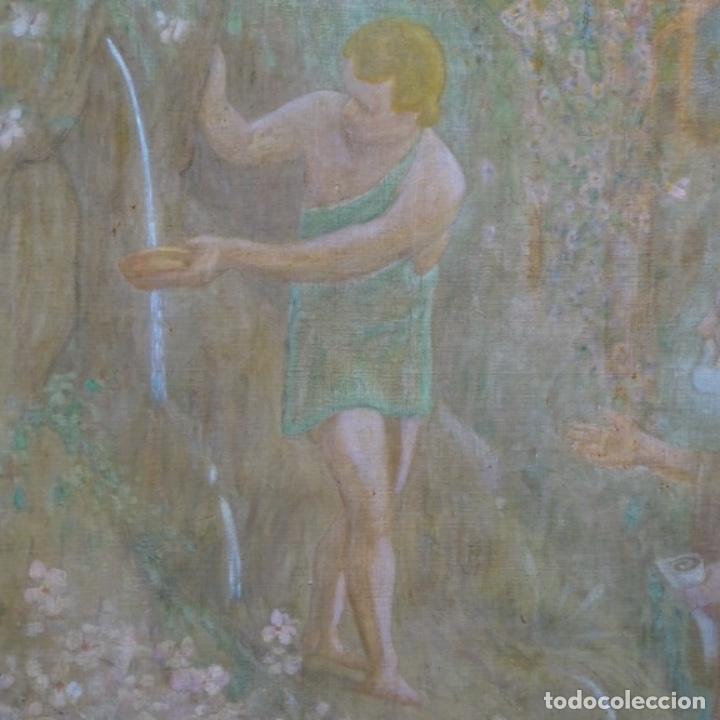 Arte: Gran Óleo noucentista de Pere viver aymerich(Terrassa 1873-1917).pieza de museo. - Foto 3 - 154560598
