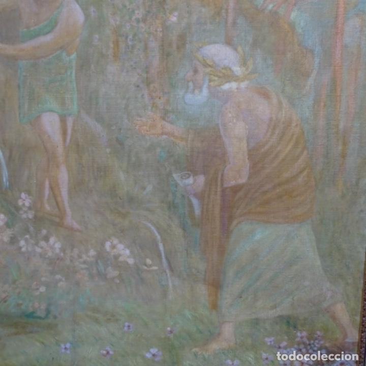 Arte: Gran Óleo noucentista de Pere viver aymerich(Terrassa 1873-1917).pieza de museo. - Foto 4 - 154560598