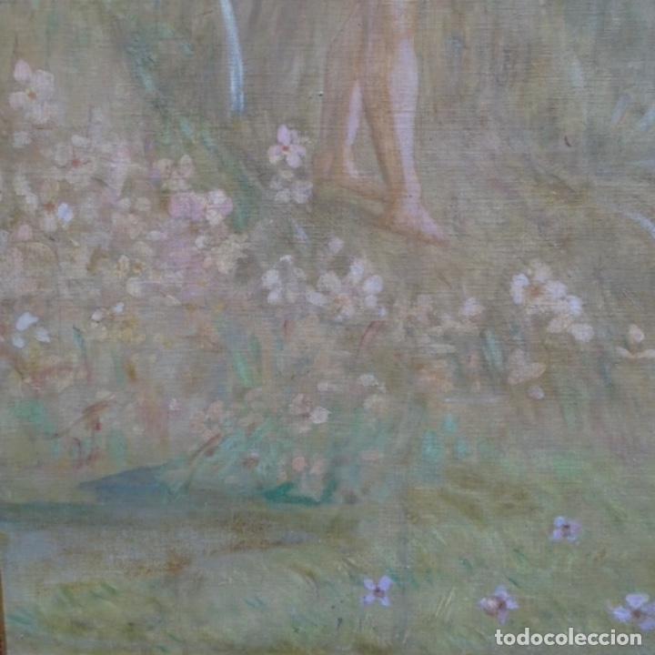Arte: Gran Óleo noucentista de Pere viver aymerich(Terrassa 1873-1917).pieza de museo. - Foto 5 - 154560598