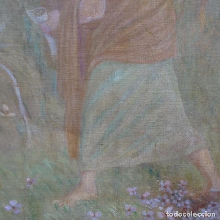 Arte: Gran Óleo noucentista de Pere viver aymerich(Terrassa 1873-1917).pieza de museo. - Foto 6 - 154560598