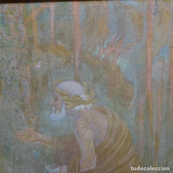 Arte: Gran Óleo noucentista de Pere viver aymerich(Terrassa 1873-1917).pieza de museo. - Foto 7 - 154560598