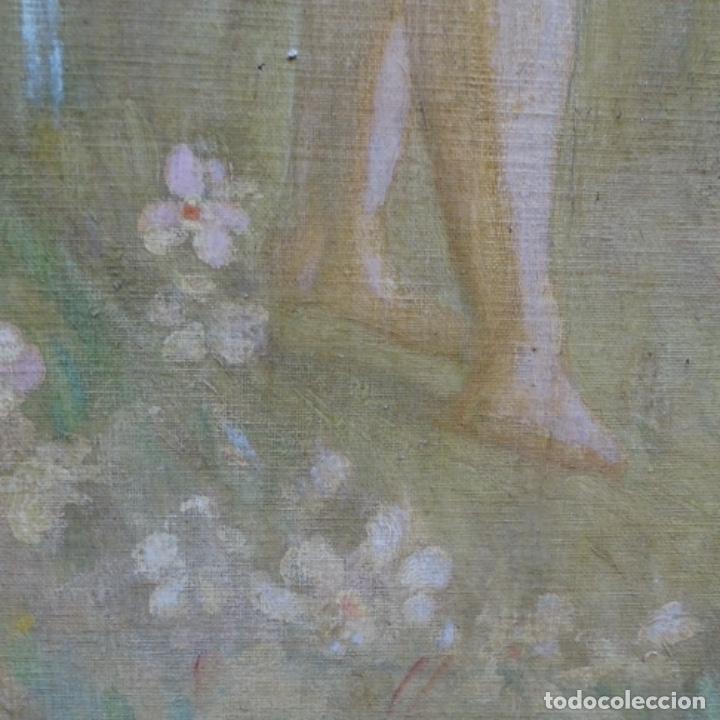 Arte: Gran Óleo noucentista de Pere viver aymerich(Terrassa 1873-1917).pieza de museo. - Foto 11 - 154560598