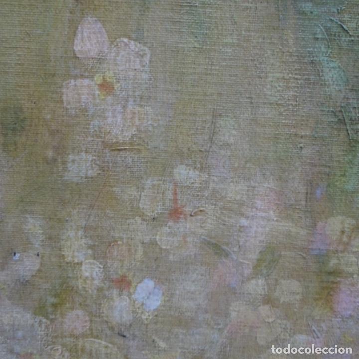Arte: Gran Óleo noucentista de Pere viver aymerich(Terrassa 1873-1917).pieza de museo. - Foto 12 - 154560598