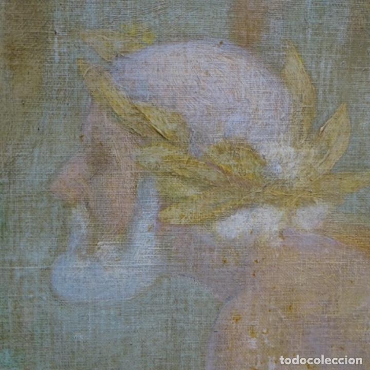 Arte: Gran Óleo noucentista de Pere viver aymerich(Terrassa 1873-1917).pieza de museo. - Foto 14 - 154560598
