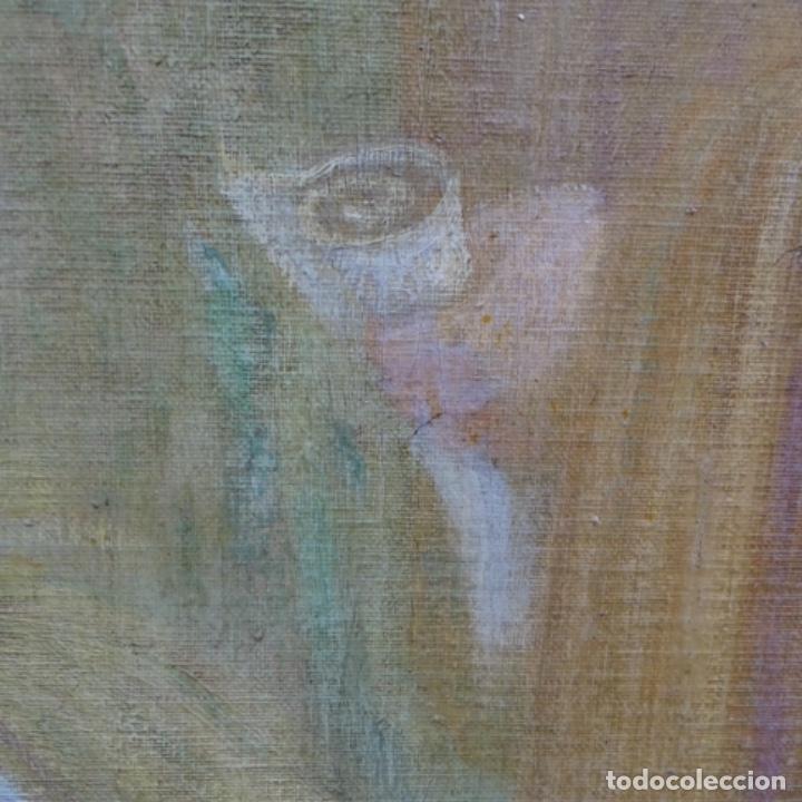 Arte: Gran Óleo noucentista de Pere viver aymerich(Terrassa 1873-1917).pieza de museo. - Foto 15 - 154560598