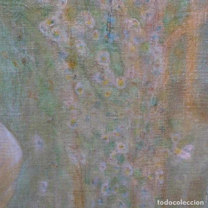 Arte: Gran Óleo noucentista de Pere viver aymerich(Terrassa 1873-1917).pieza de museo. - Foto 16 - 154560598