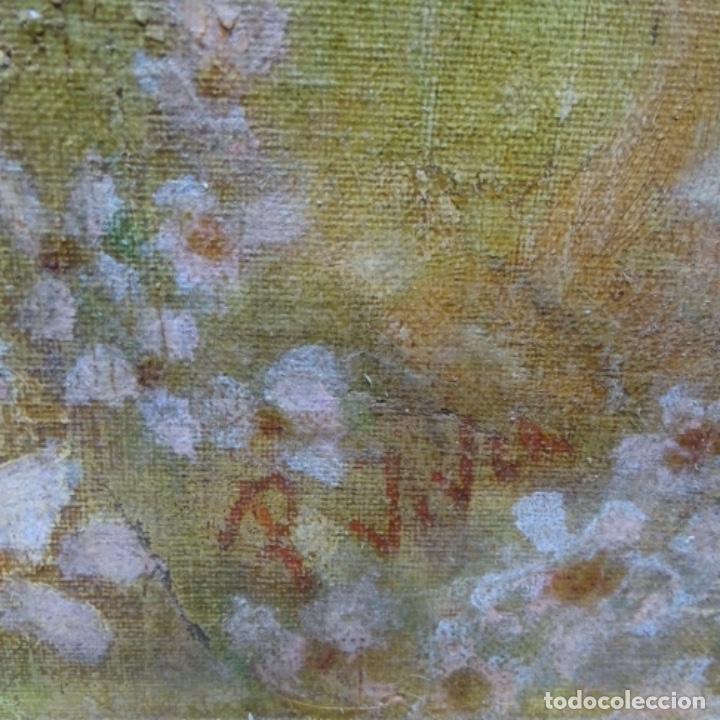 Arte: Gran Óleo noucentista de Pere viver aymerich(Terrassa 1873-1917).pieza de museo. - Foto 17 - 154560598