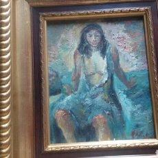 Arte: CUADRO RETRATO CHICA +MARCO (GRAN CALIDAD Y RIQUEZA EN MATIZES ). Lote 154572794