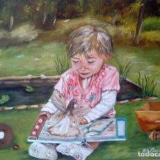 Arte: OLEO SOBRE LIENZO ORIGINAL . Lote 154645510