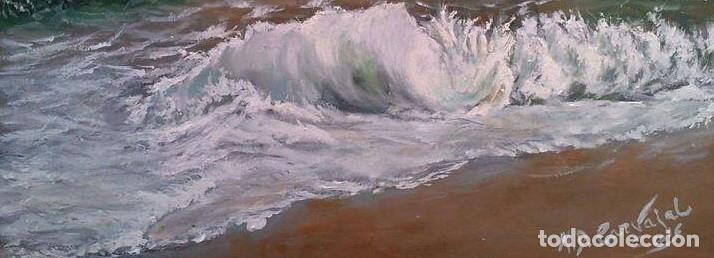 Arte: marina oleo sobre lienzo - Foto 3 - 154649586