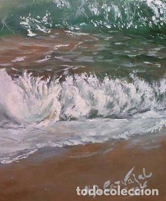 Arte: marina oleo sobre lienzo - Foto 4 - 154649586