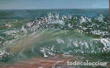 Arte: marina oleo sobre lienzo - Foto 5 - 154649586
