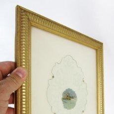 Arte: BONITA PINTURA ANTIGUA S XVIII-XIX SOBRE CRISTAL AL ACIDO Y TALLADO, UNA JOYA. Lote 154653362