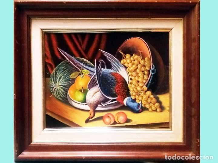 TARIFA VAZQUEZ, JESUS.-BODEGON CON FAISAN Y PATO -OLEO S/TABLEX, 38 X 28 CM. FIRMADO Y ENMARCADO. (Arte - Pintura - Pintura al Óleo Contemporánea )