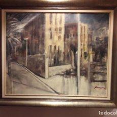 Kunst - Premiado cuadro Maternidad en Les Corts (Barcelona) de Josep Casanovas Archs. - 154711826