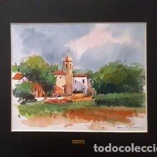 Arte: CUADRO - PINTURA ACUARELA - JOSEP MARFA GUARRO - BARCELONA - AÑO 1990 -. Lote 154770098
